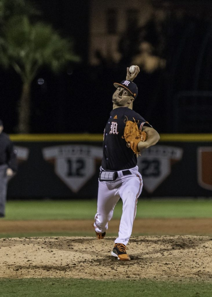 Van Belle dazzles with 14 strikeouts, Hurricanes defeat Towson.