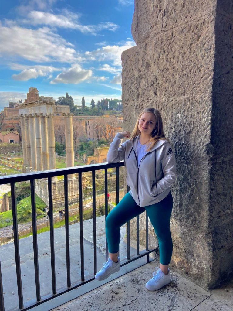 After her study abroad program in Rome was cut short, Grace Harrington returned to Miami and entered quarantine at here home.