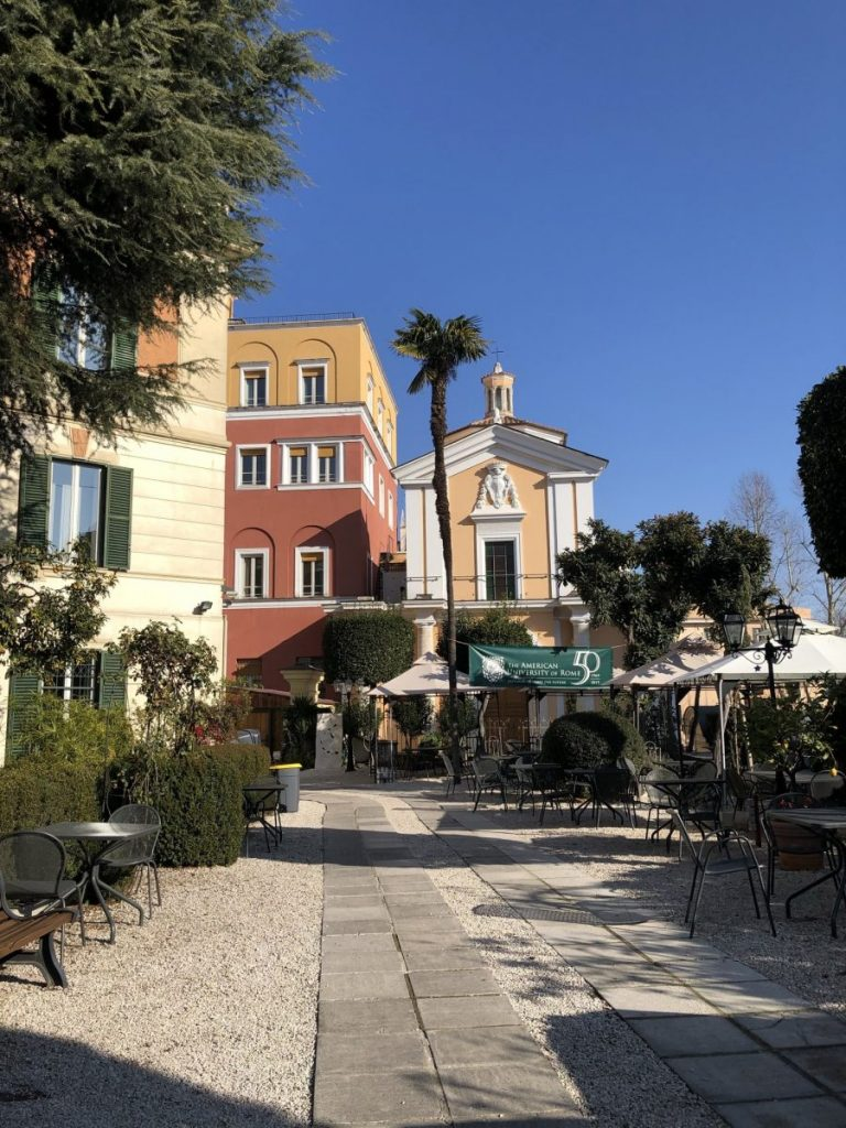 Students in the URome program studied at the American University of Rome, which features a scenic view of central Rome.