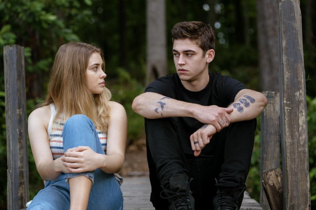 "Hero Fiennes Tiffin and Josephine Langford in ""After."""