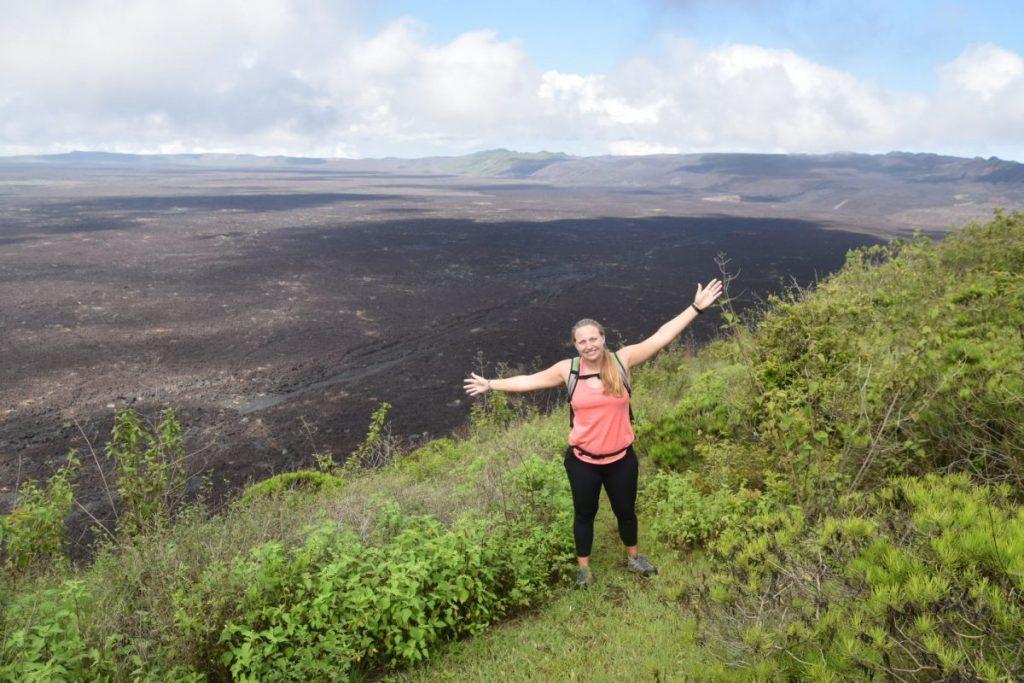 Cassidy Renninger visited the Sierra Negra Volcano on Isabela Island during spring break when her parents visited her.