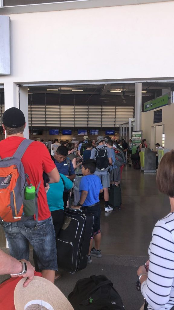 Cassidy Renninger waited 45 minutes at the Baltra Airport in the Galapagos to check her bag in, one of the first stops on her long trip back to the U.S.