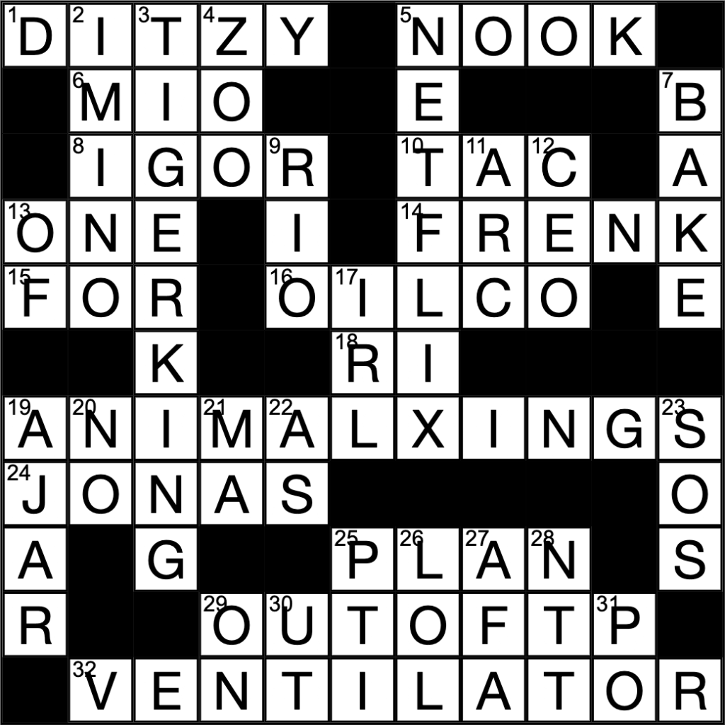 Crossword by Managing Editor, Anna Timmons.