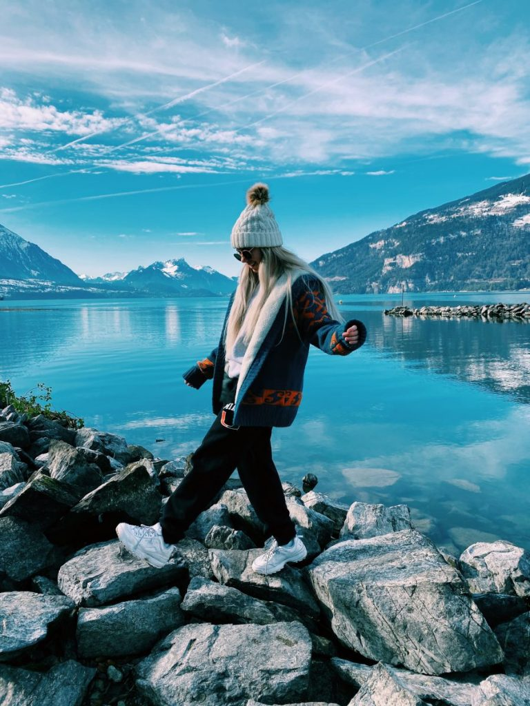 During her time abroad, Ashley Rock visited several European countries, including Interlaken, Switzerland.