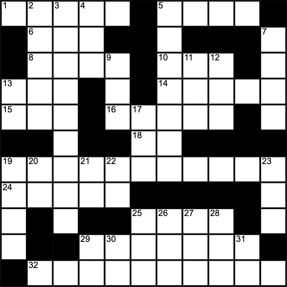 Crossword by Managing Editor, Anna Timmons