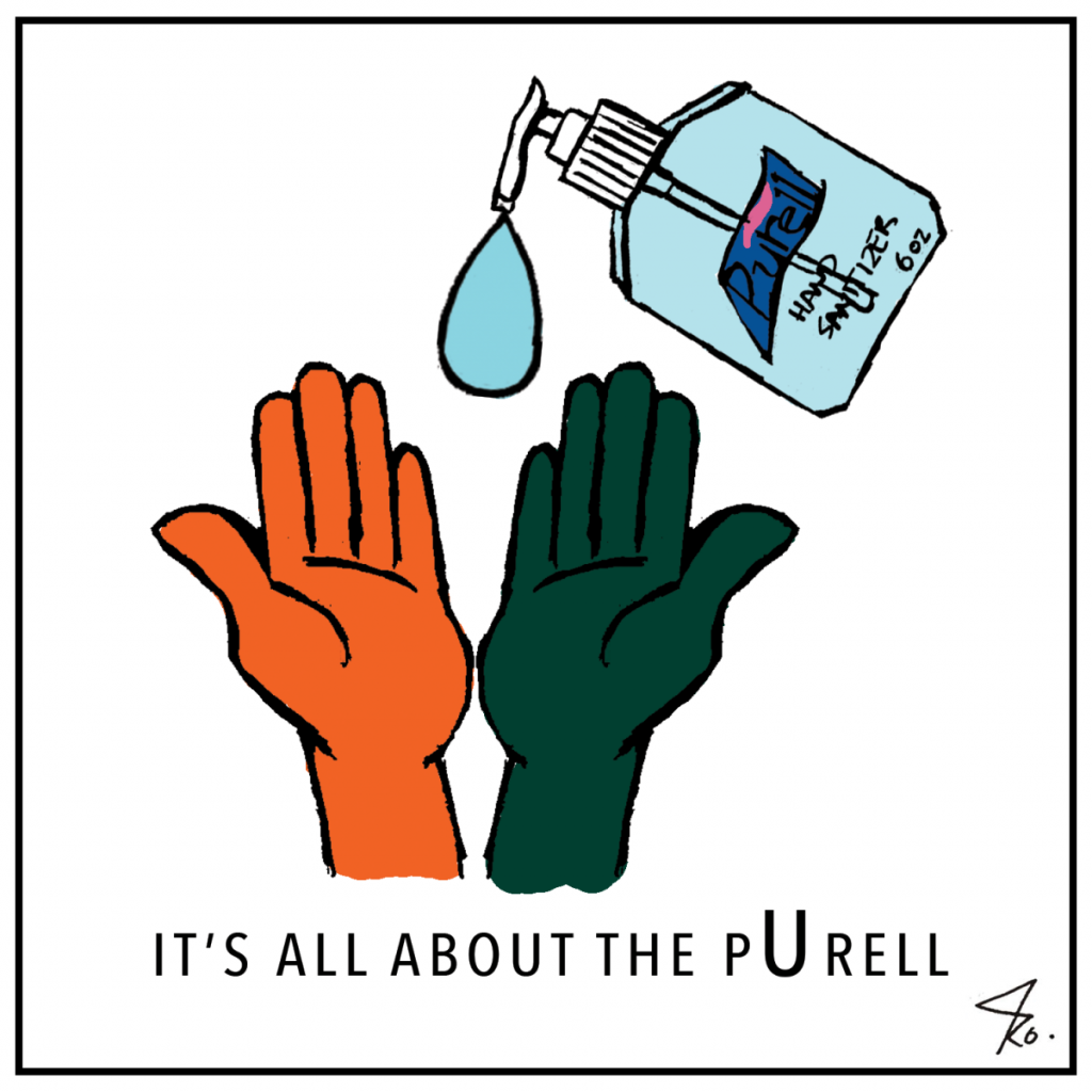 Cartoon: It's all about the pUrell