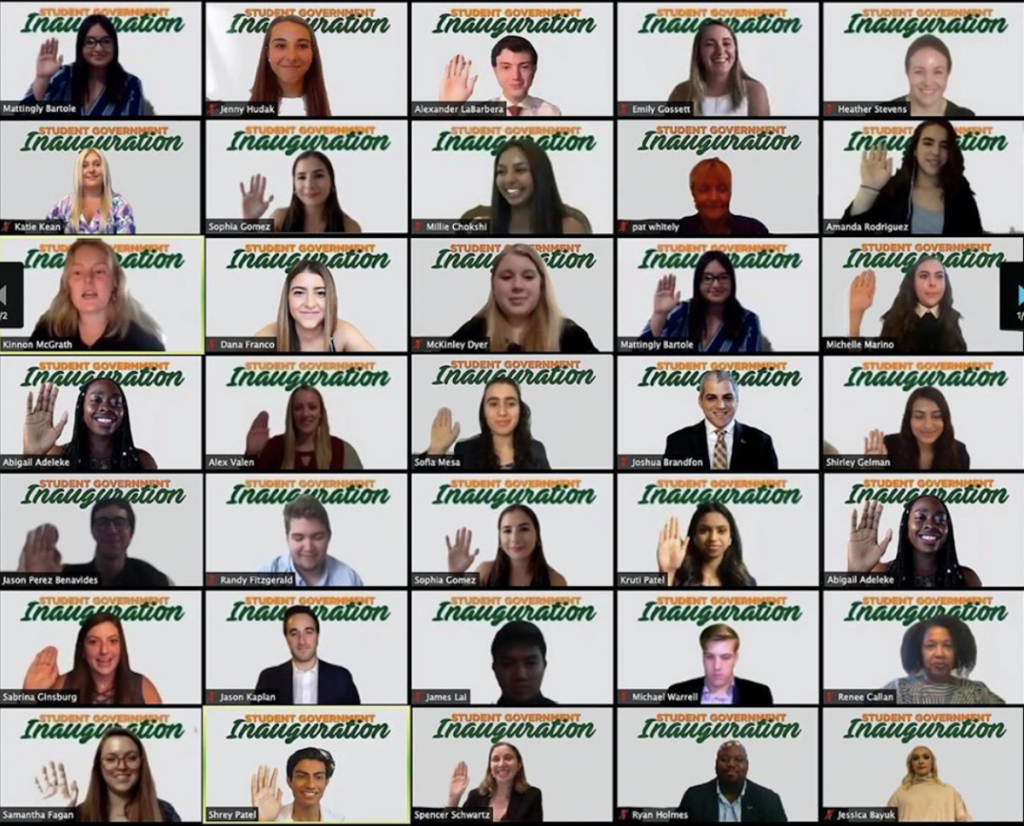 Virtual Student Government Inauguration welcomes new leaders via Zoom