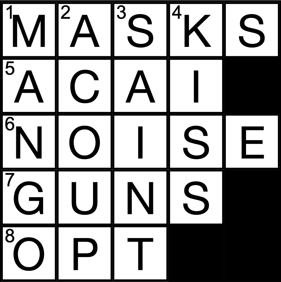 Crossword by Managing Editor Anna Timmons
