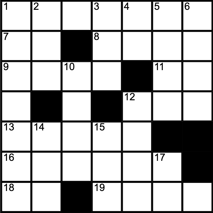 Crossword by Managing Editor Anna Timmons.