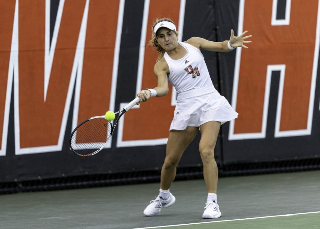 Estela Perez-Somarriba will have another opportunity to defend her NCAA singles title.