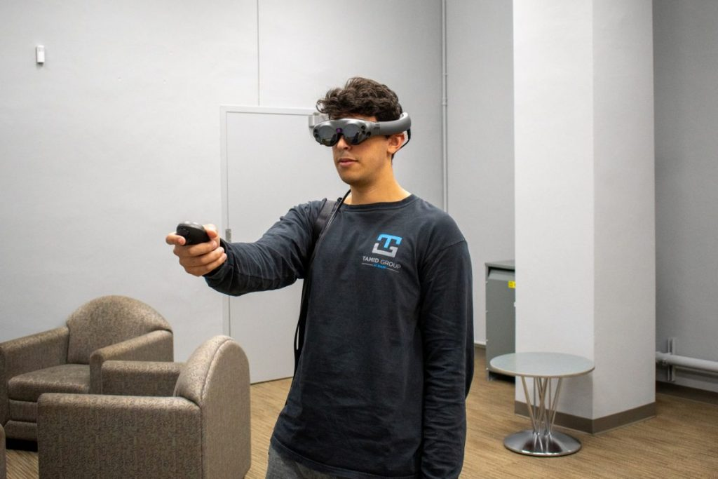 Students can experience augmented reality at Richter Library using Magic Leap technologies.