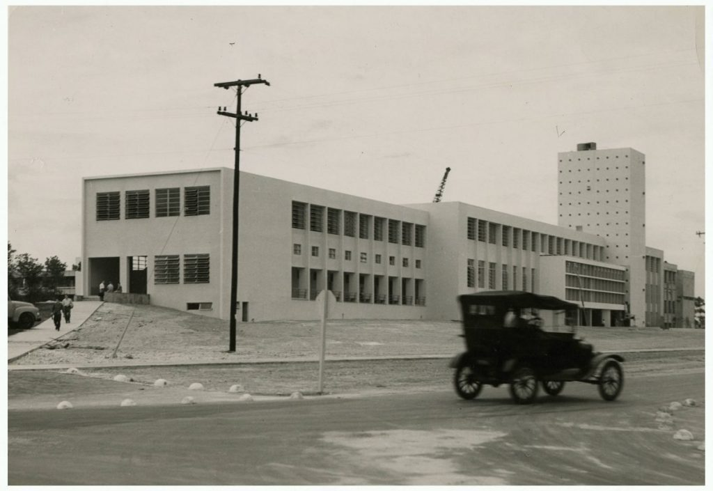 Solomon G. Merrick Building shortly after completion in 1949