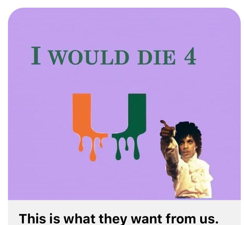 "UM faculty are using social media to make their case to teach from home. Several shared a meme  featuring the title of a famous Prince song, ""I Would Die 4 U"" to show their feelings about UM&squot;s demand that teachers return to the classrooms this fall."