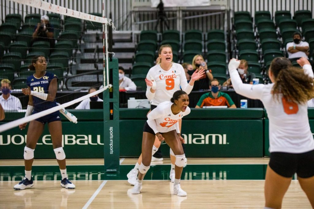 Hurricanes volleyball opens season 1-1 after two matches with Georgia Tech