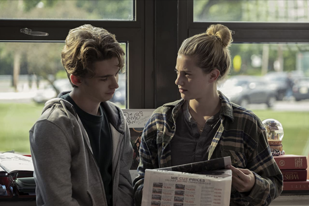 "Austin Abrams and Lili Reinhart in ""Chemical Hearts"" (2020)"