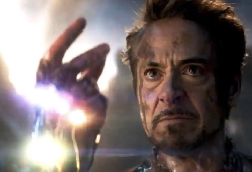 "Robert Downey Jr as Tony Stark in a still from ""Avengers: Endgame."""