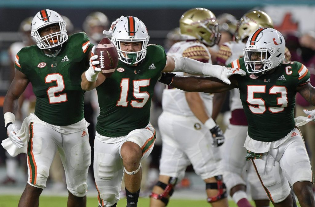 With most points ever scored against Florida State, Miami dominates 52-10 in rivalry game