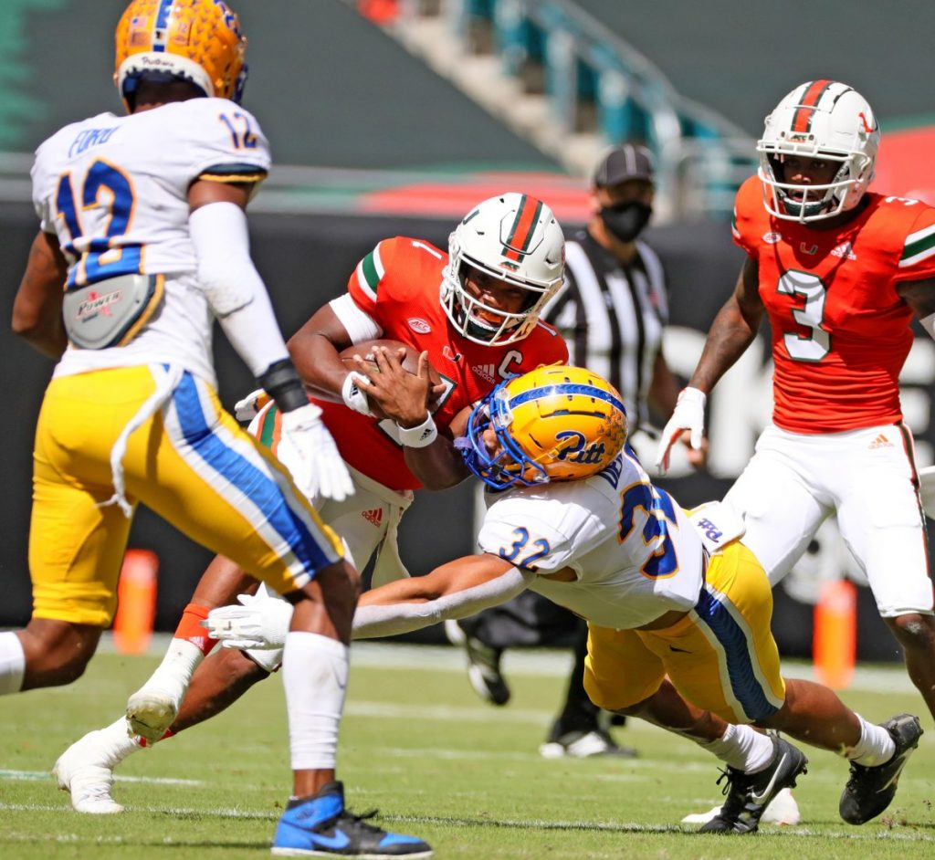 No. 13 Miami bounces back behind King's four touchdowns in 31-19 win over Pittsburgh