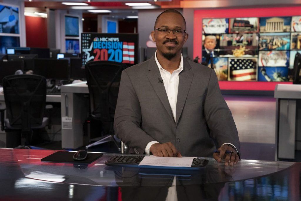 "University of Miami alumnus Joshua Johnson now hosts his own primetime show on MSNBC, ""The Week with Joshua Johnson,"" which airs"