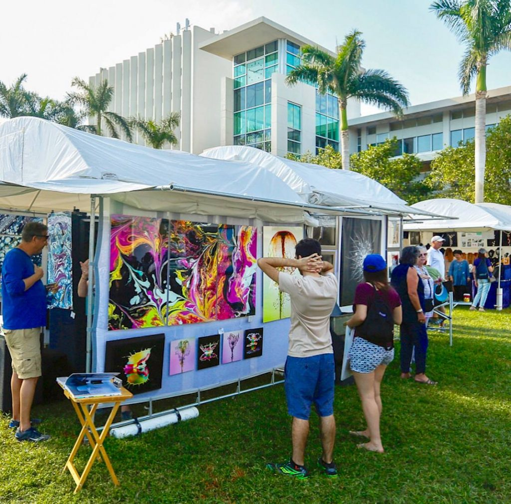 Artist booths at the Beaux Arts Festival of Art 2018.