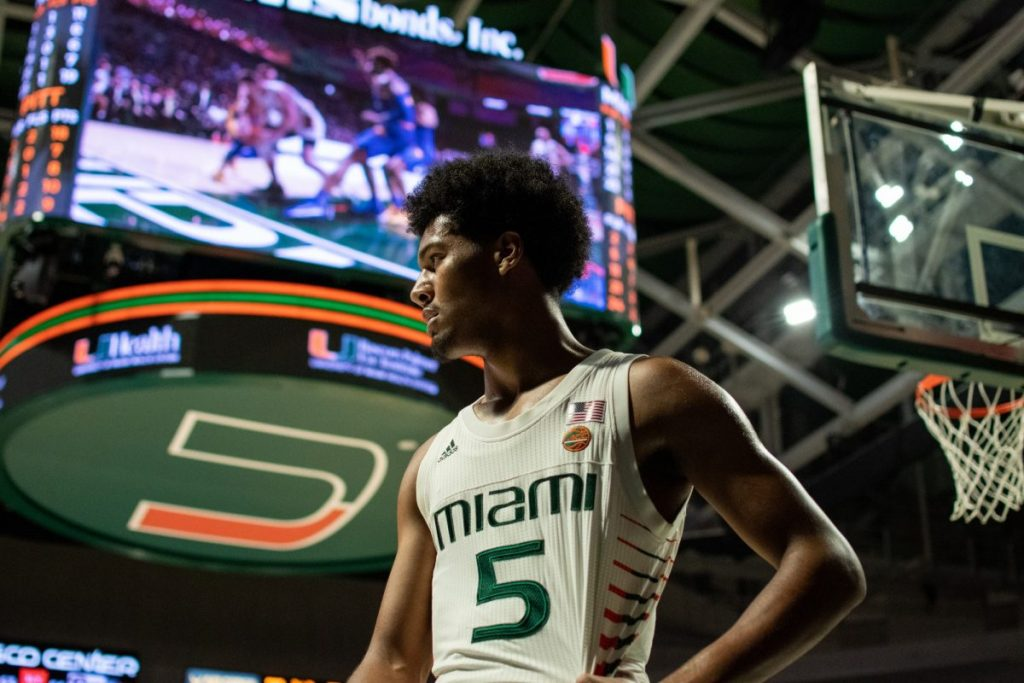 Sophomore guard Harlond Beverly during Miami's game versus Pittsburgh in the Watsco Center on Jan. 12.