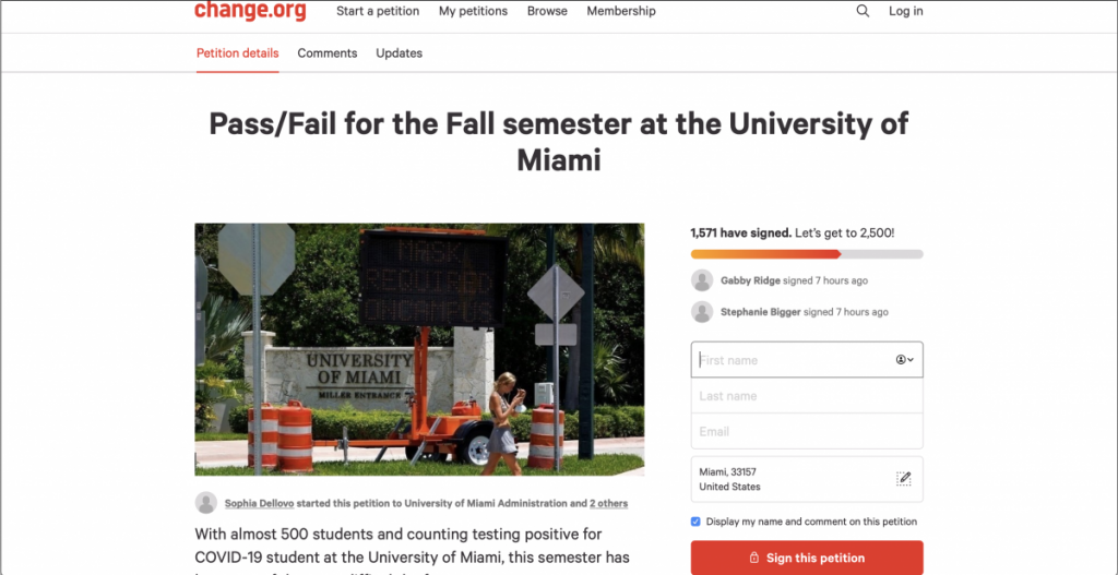 No pass/fail grading option for fall semester as of now