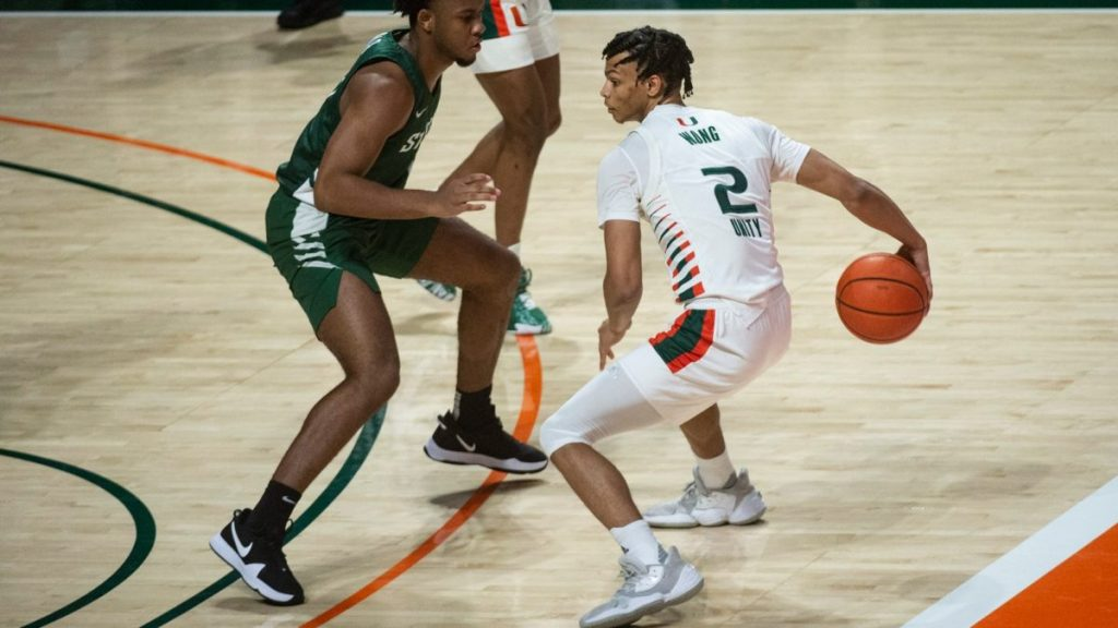 Miami wins close game over Stetson despite losing Chris Lykes and Matt Cross in second half