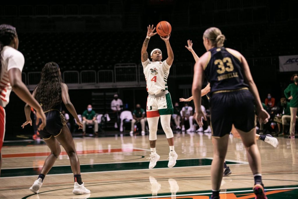 Banks scores career-high 18 points, but Canes not enough to sink Notre Dame