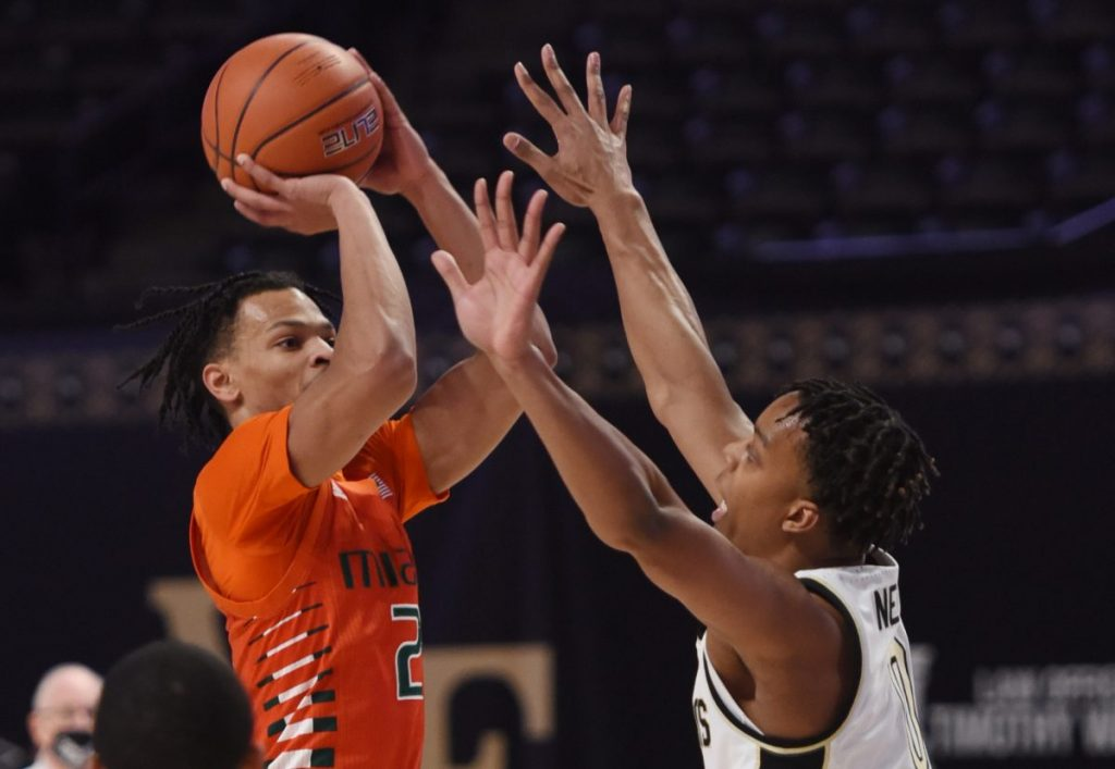 Depth-less Miami falls to Wake Forest, loses third consecutive ACC contest