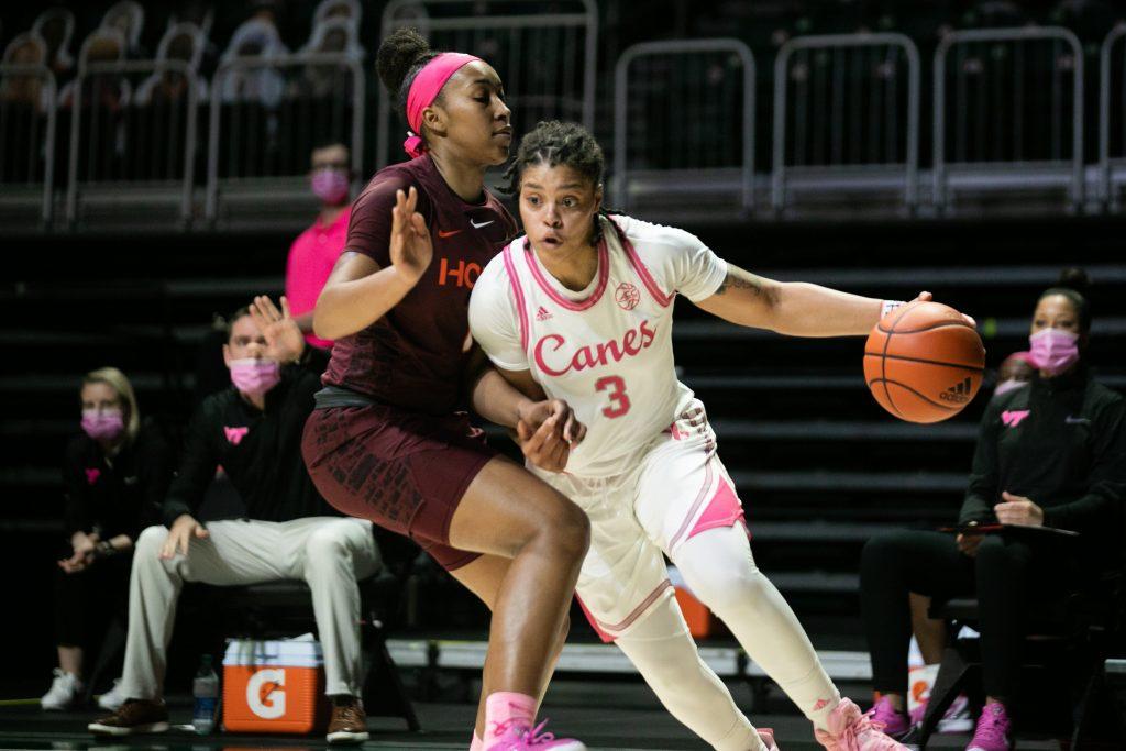 Destiny Harden's 20-point performance not enough as Miami falls to Virginia Tech