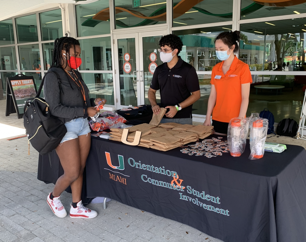 Members of the Department of Orientation and Commuter Student Involvement spent multiple days tabling over the past two weeks to spur interest in the orientation fellow position.