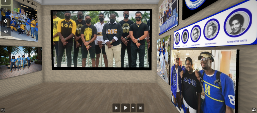 With the University of Miami being a campus on which 8 of the Divine 9 Black Greek Letter Organizations have been chartered, Washington made sure to dedicate a section of the museum to UM's flourishing National Pan-Hellenic Council.