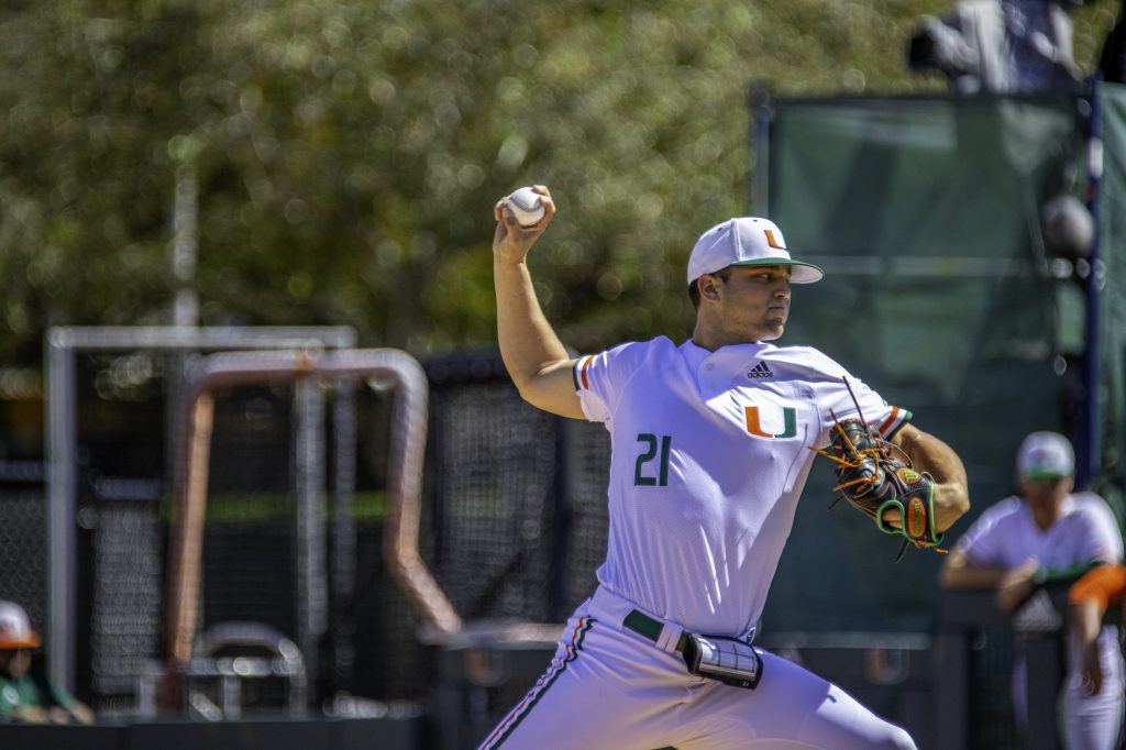 Slade Cecconi, Miami's Sunday afternoon pitcher last season, was selected 33rd overall by the Arizona Diamondbacks in the 2020 MLB Draft.