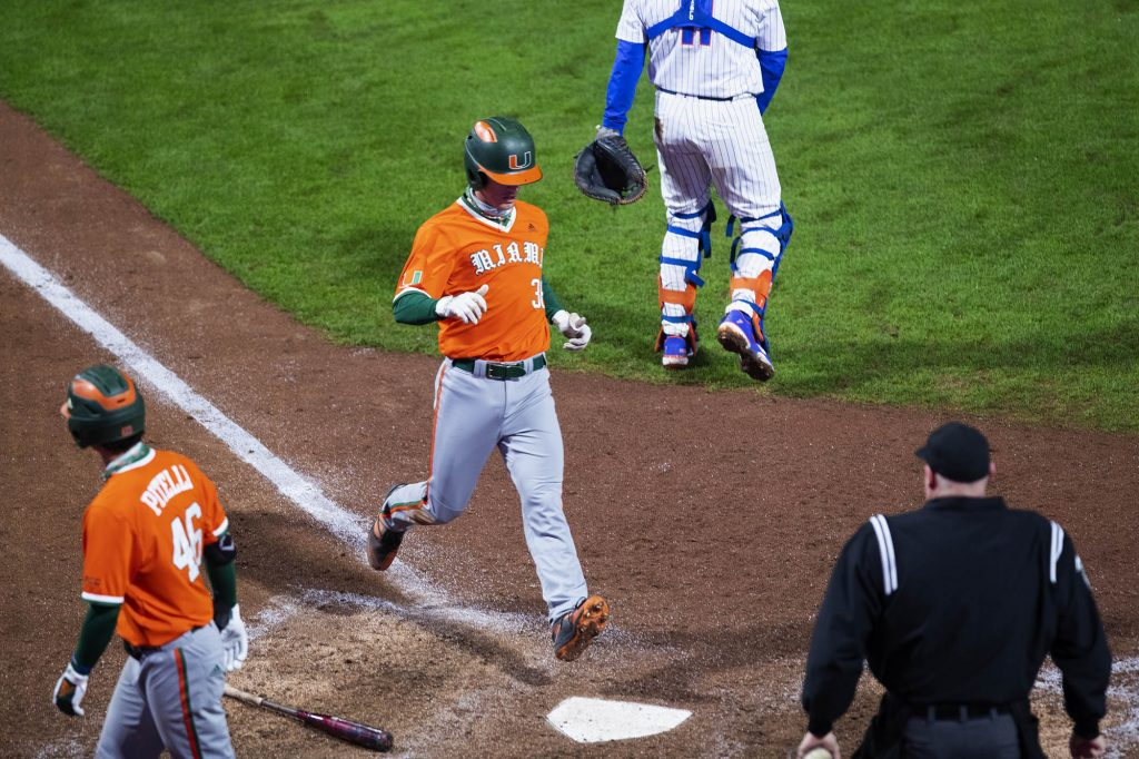 Hurricanes mount epic comeback in 13-inning thrilling victory over Gators