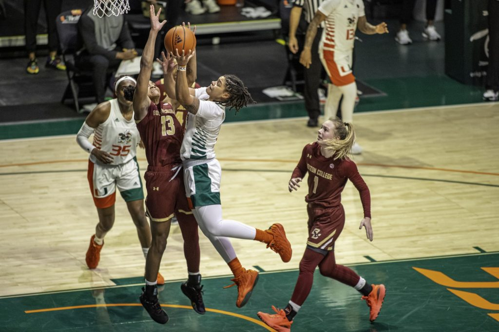 Behind dominant second half, Hurricanes power to win over Boston College