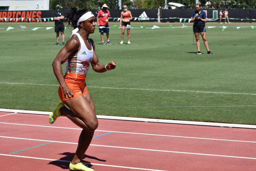 Miami's women's track and field team is ranked No. 22 in the country after the performance