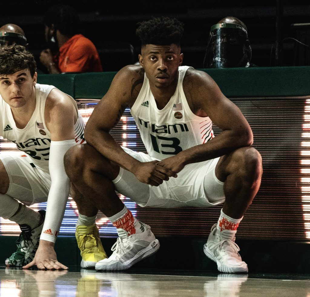Earl Timberlake (13) has announced his intent to transfer out of the UM basketball program. The freshman played in just seven games this season after dealing with injuries.