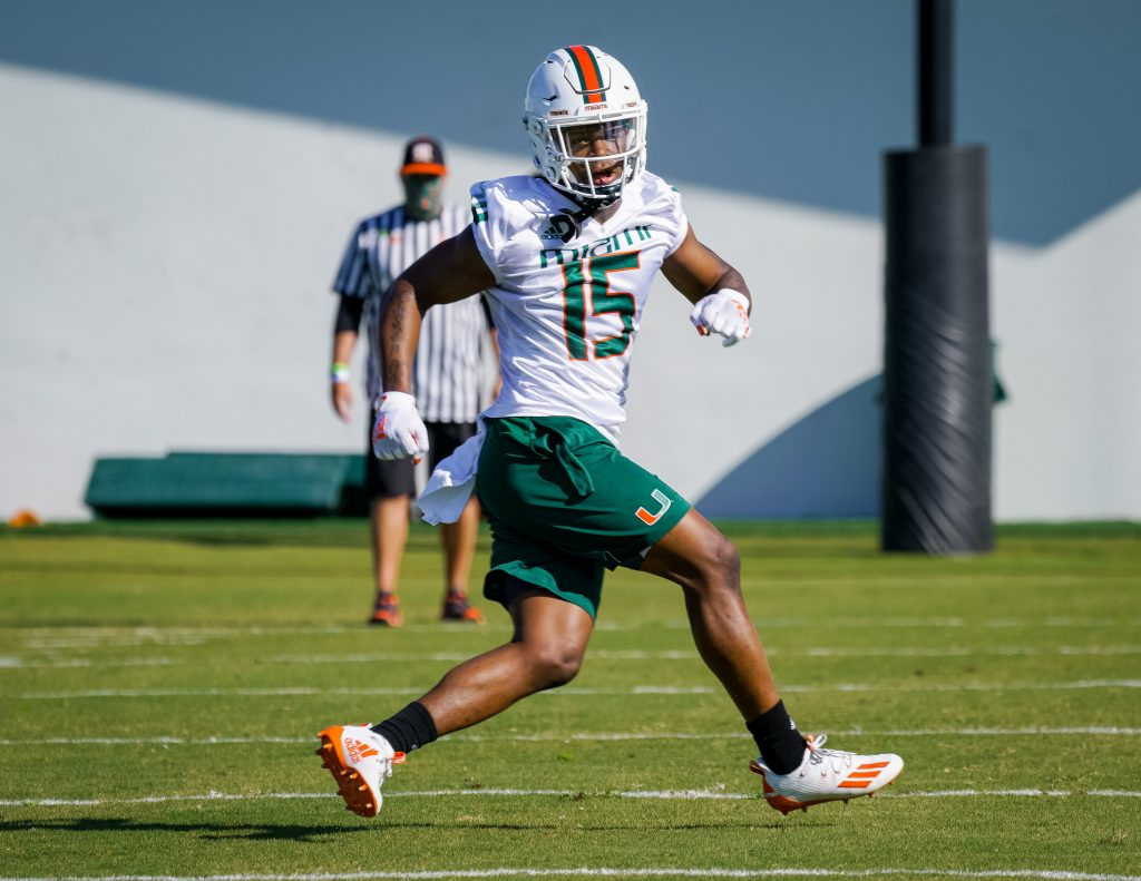 Freshman safety Avantae Williams participated in his first day of spring practice after missing all of last season with an undisclosed medical condition.