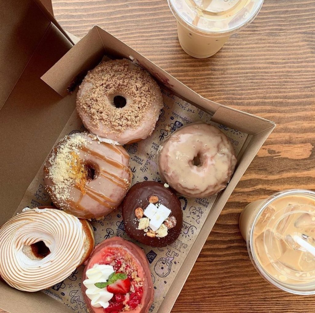The Salty Donut is known for its artisan-style donuts and popular collaborations like the Knaus Berry Farm cinnamon roll donut.