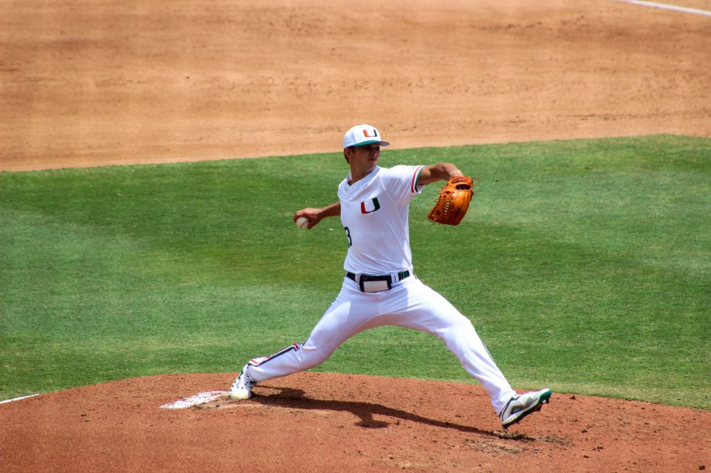 Miami sophomore and starting pitcher Jordan Dubberly pitched five innings with a career-high seven strikeouts.