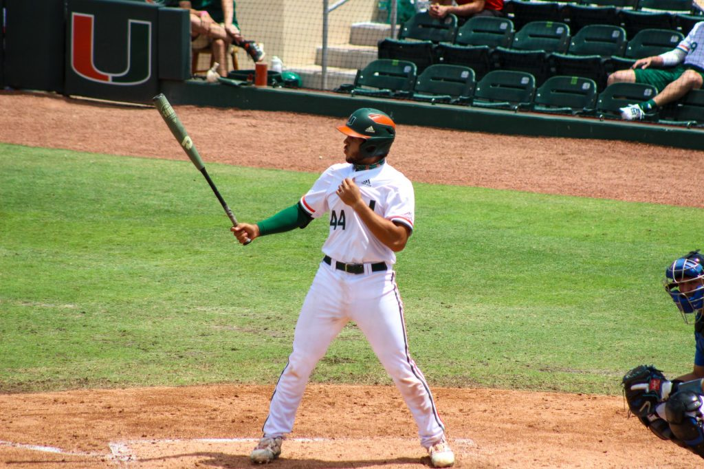 Sophomore catcher Adrian Del Castillo had two hits in four at-bats with one RBI on Sunday, April 4 against Duke.