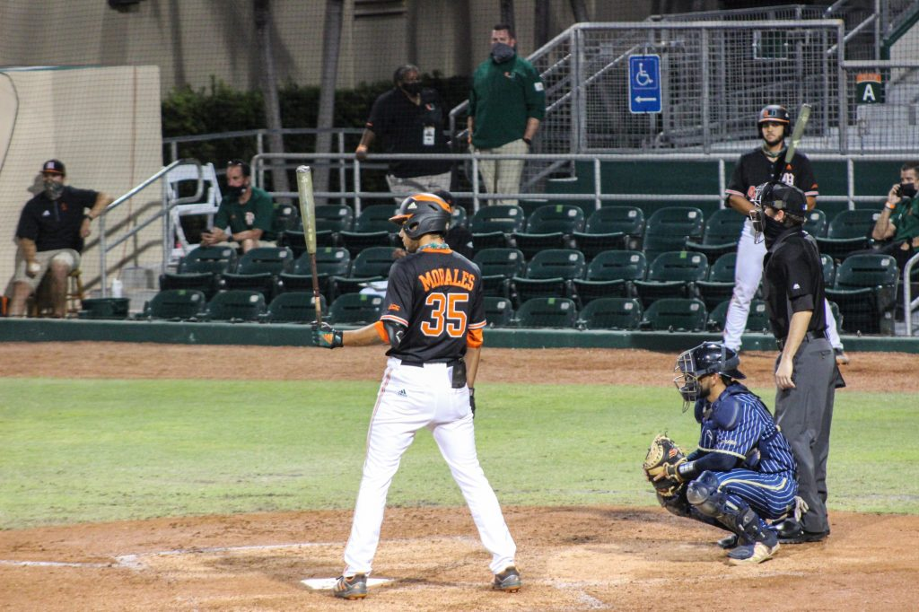 Third baseman Yohandy Morales hit his seventh home run of the season Wednesday night against FIU. Morales, a freshman, leads the team in home runs.
