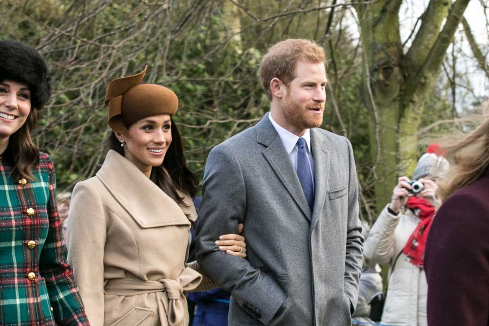 Prince Harry and Meghan Markle on Christmas Day 2017.