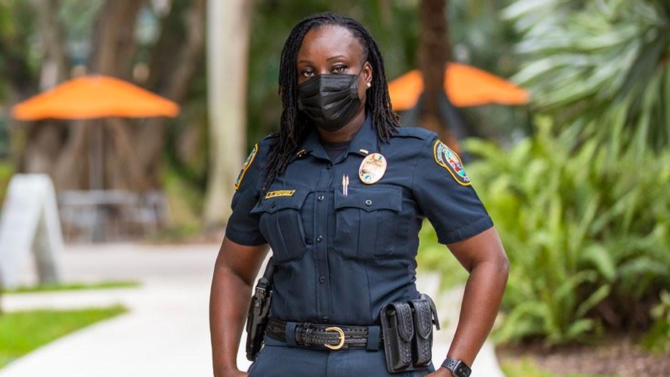 UMPD Lieutenant Octavia Bridges is the highest ranking Black female in the department's history.