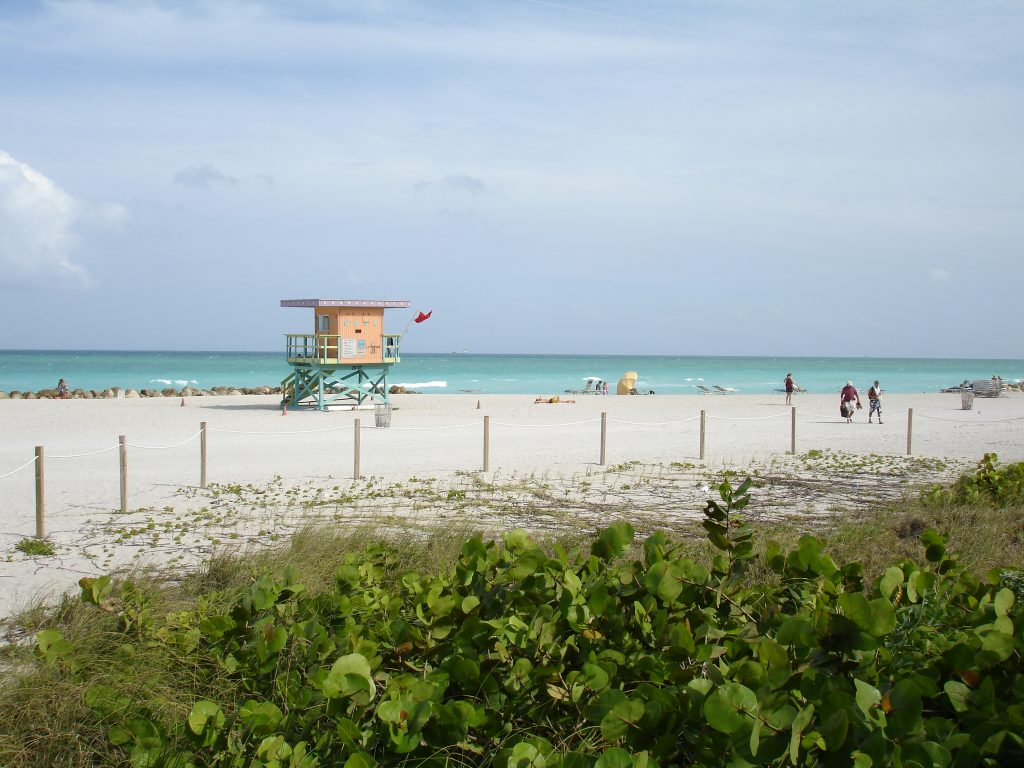 South Beach was flooded with tourists throughout March and April for spring break.