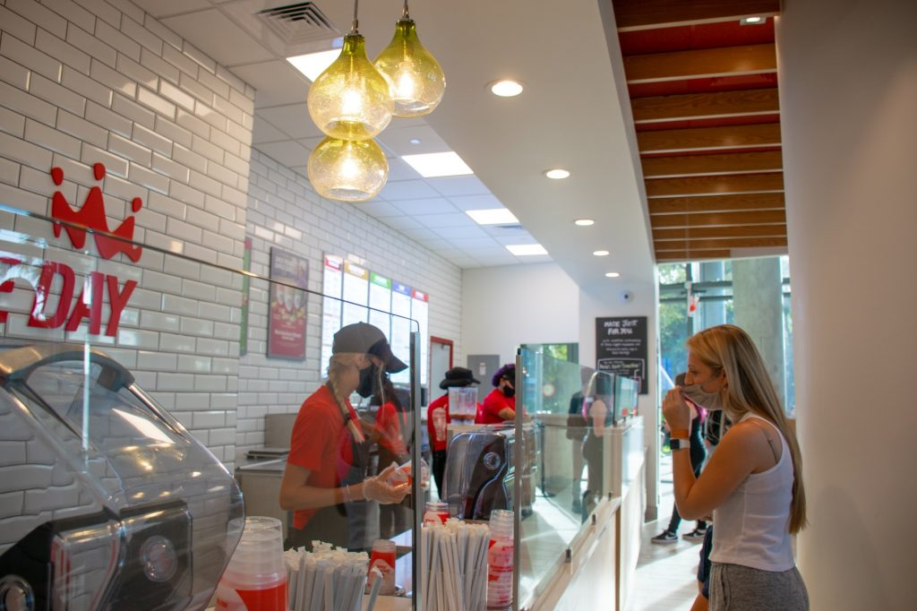 The recently opened Smoothie King in the Lakeside Village has become one of the more popular food options for UM students.