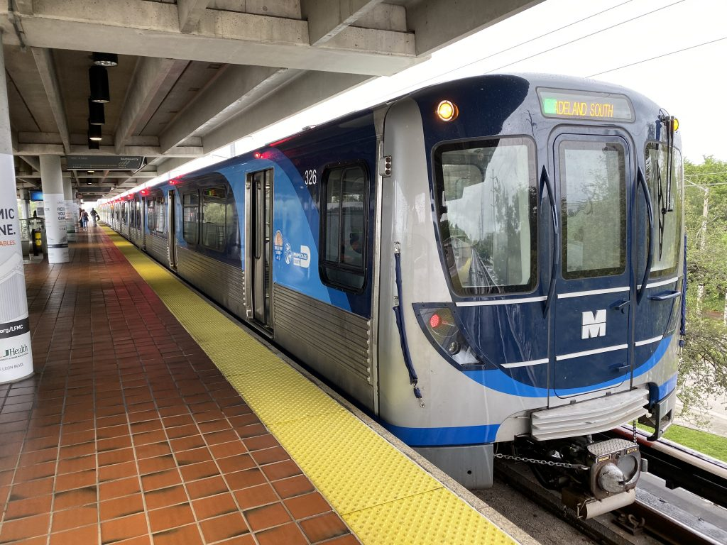 Miami-Dade's new metrorail trains, as seen above, were put into service in 2017 as part of the People's Transportation Plan. However, much of this plan, which promises much-needed changes to the city's public transportation system, have yet to be implemented.