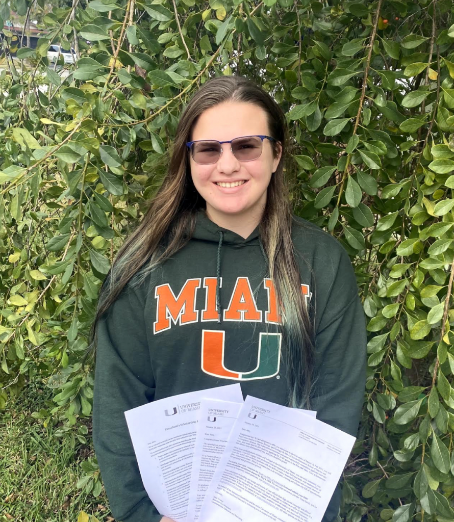 Jetty Porter, an incoming freshman from Hollywood, Florida, is entering UM as a marine biology and ecology. She spent most of her time in high school conducting research on coral, different kids of fish and sharks.