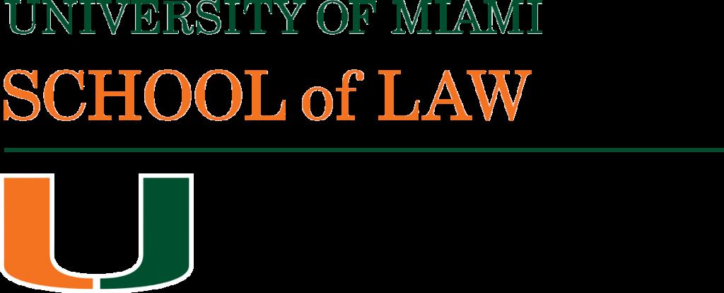 University of Miami School of Law logo.