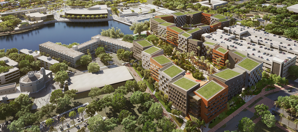 The completion of Lakeside Village marksfirst of three major construction projects as outlined in the 'Roadmap to Our New Century,' a multi-year plan that will advance UM's influence on society.